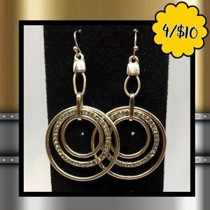 💛$4ea💛4/$10💛 Triple Circle Dangle Earrings